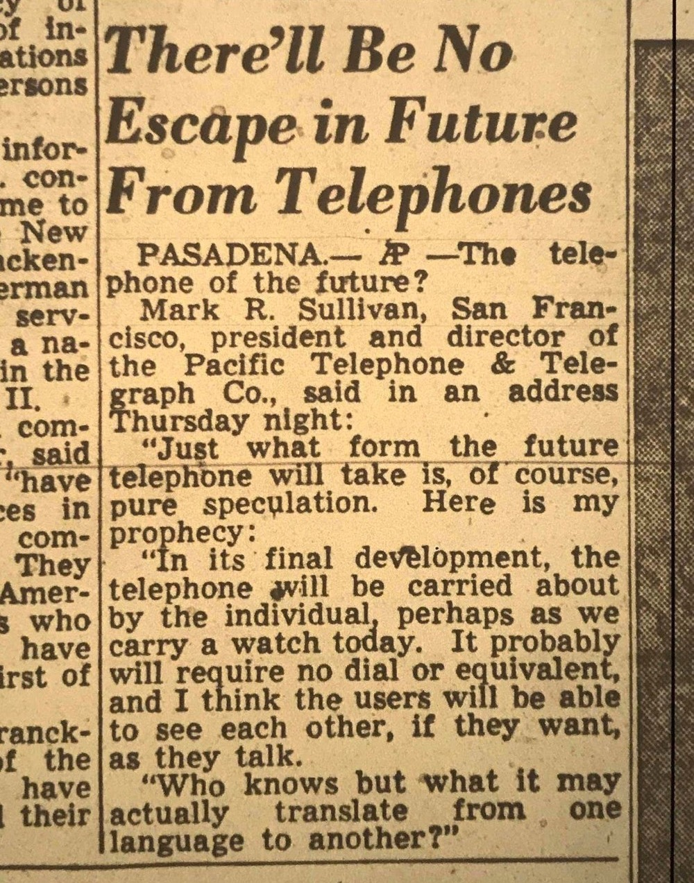 """""""There'll Be No Escape From Telephones"""" – This 1953 Prediction for Cellphone Actually Comes True!"""