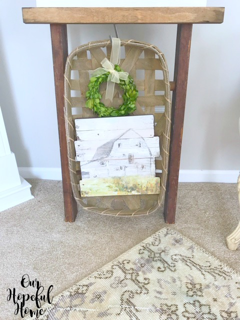 rustic barn painting vintage farmhouse ladder patchwork rug