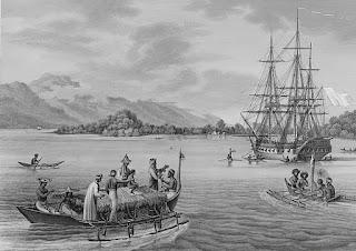 Alphonse Peillon - La frégate Uranie - Île Rawak (Papouasie Nouvelle-Guinée) - Vers 1819.