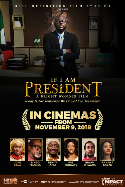 "Joke Silva and Ayo Ayoola contest for President in the movie ""If I Am President"