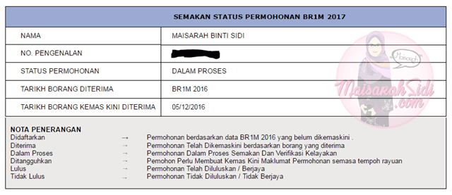 Status Permohonan BR1M Masih Dalam Proses