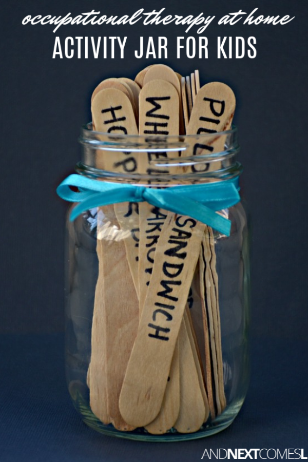 Use a DIY activity therapy jar to do sensory integration therapy at home