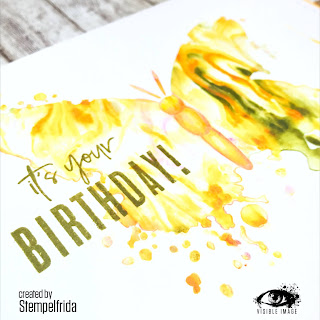 butterfly stencil | birthday stamp