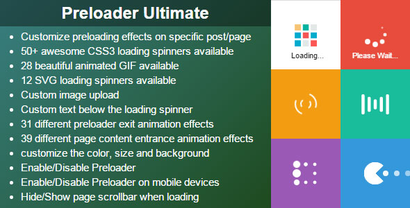 Free Download Preloader Ultimate CodeCanyon Wordpress Plugin