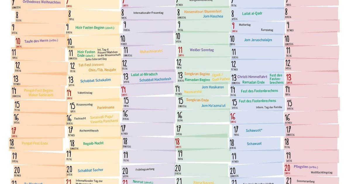 Gregorianischer Kalender 2021