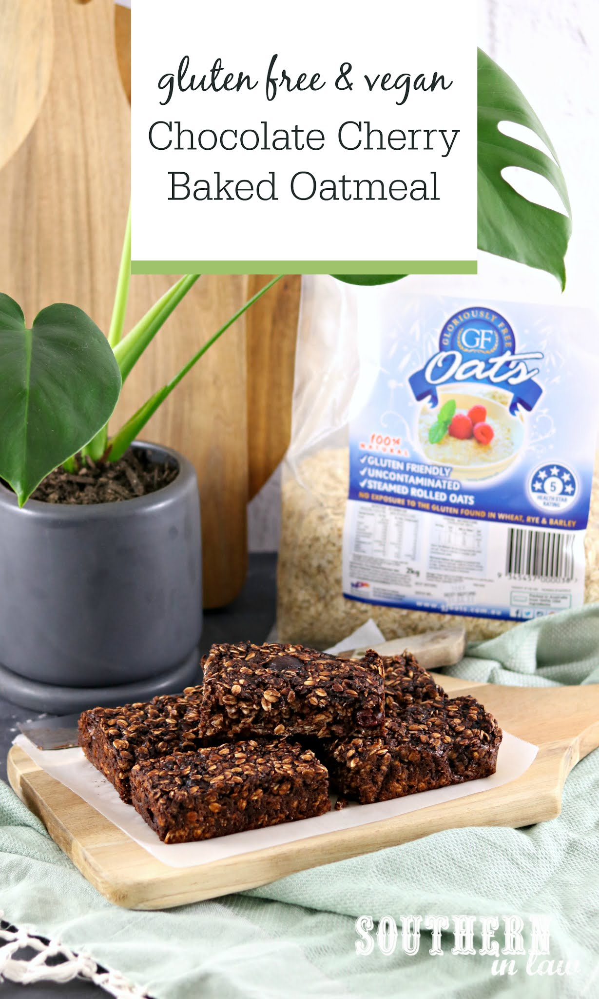Gluten Free Chocolate Cherry Baked Oatmeal Recipe