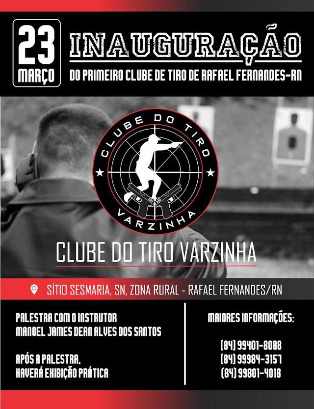 Primeiro Clube de Tiro de Rafael Fernandes, será inaugurado no próximo dia 23