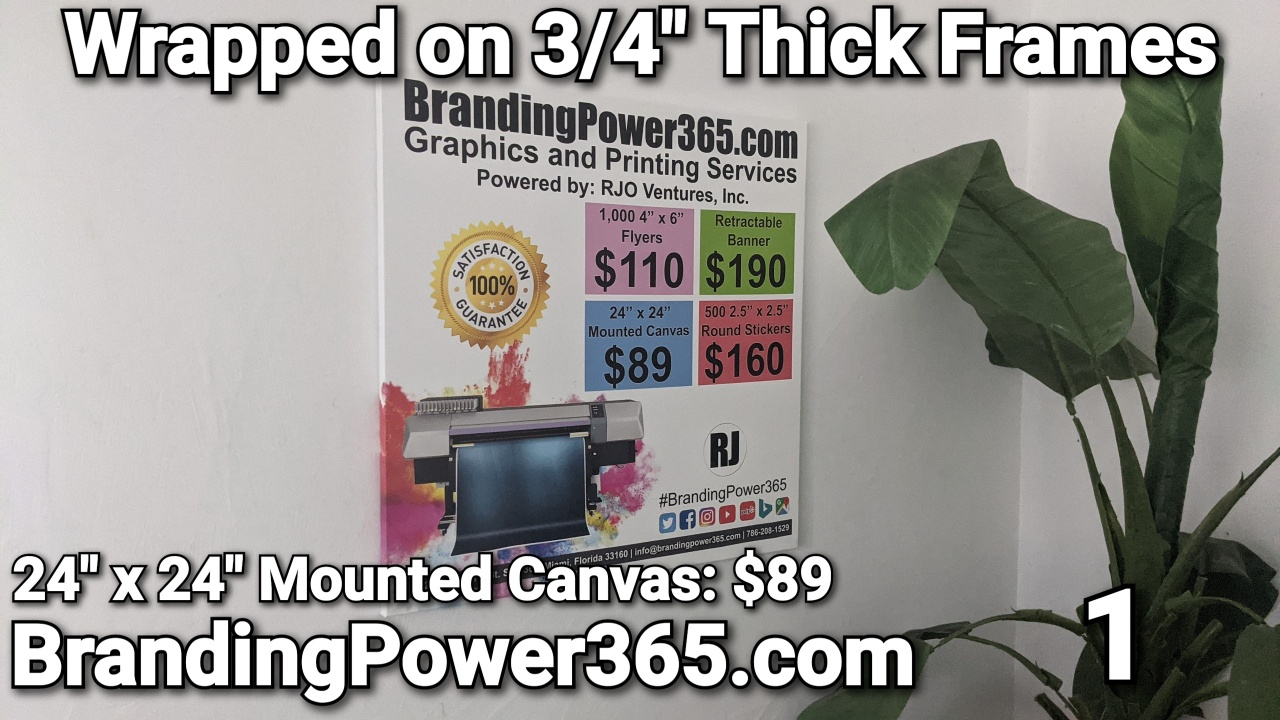 """24"""" x 24"""" Mounted Canvas on Sale for $89 by BrandingPower365.com"""