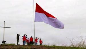 Kibarkan Bendera Merah Putih Raksasa, Tokoh Adat: Papuan bagian NKRI