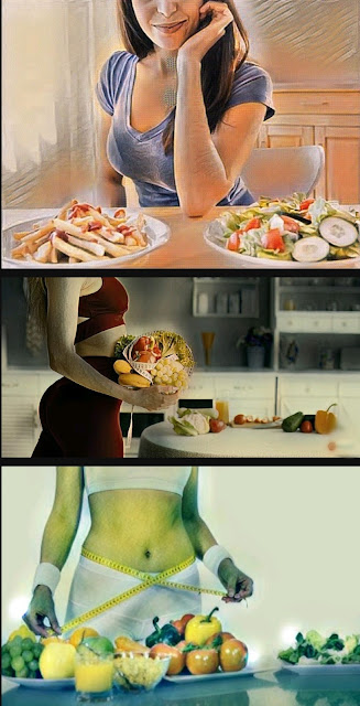 Fruits weight loss girl
