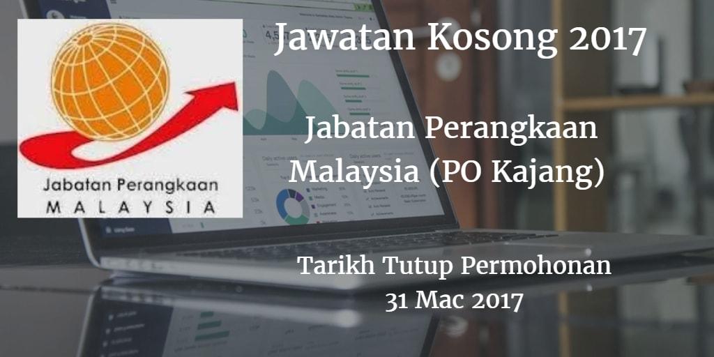 Jawatan Kosong Jabatan Perangkaan Malaysia (PO Kajang) 31 Mac 2017