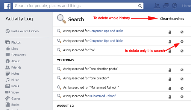 How To Check Your Facebook Search History