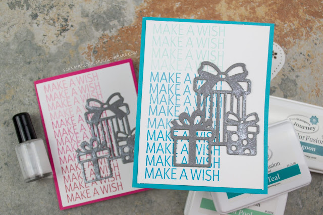 Fun Birthday card that is easy to customize and fit to any person.  Featuring Fun Stampers Journey Letterboard Sentiments Stamp Set, and For You Die Set.