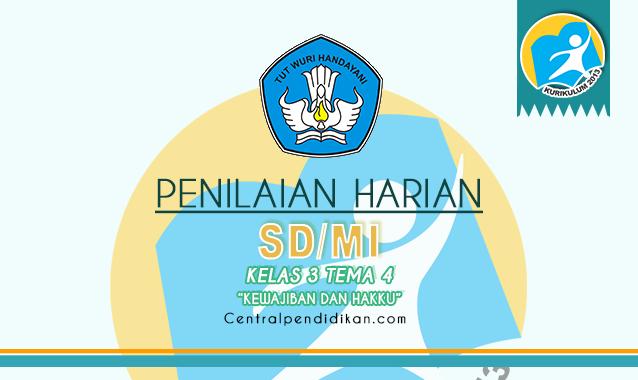 Contoh Soal PH Kelas 3 SD/MI Tema 4