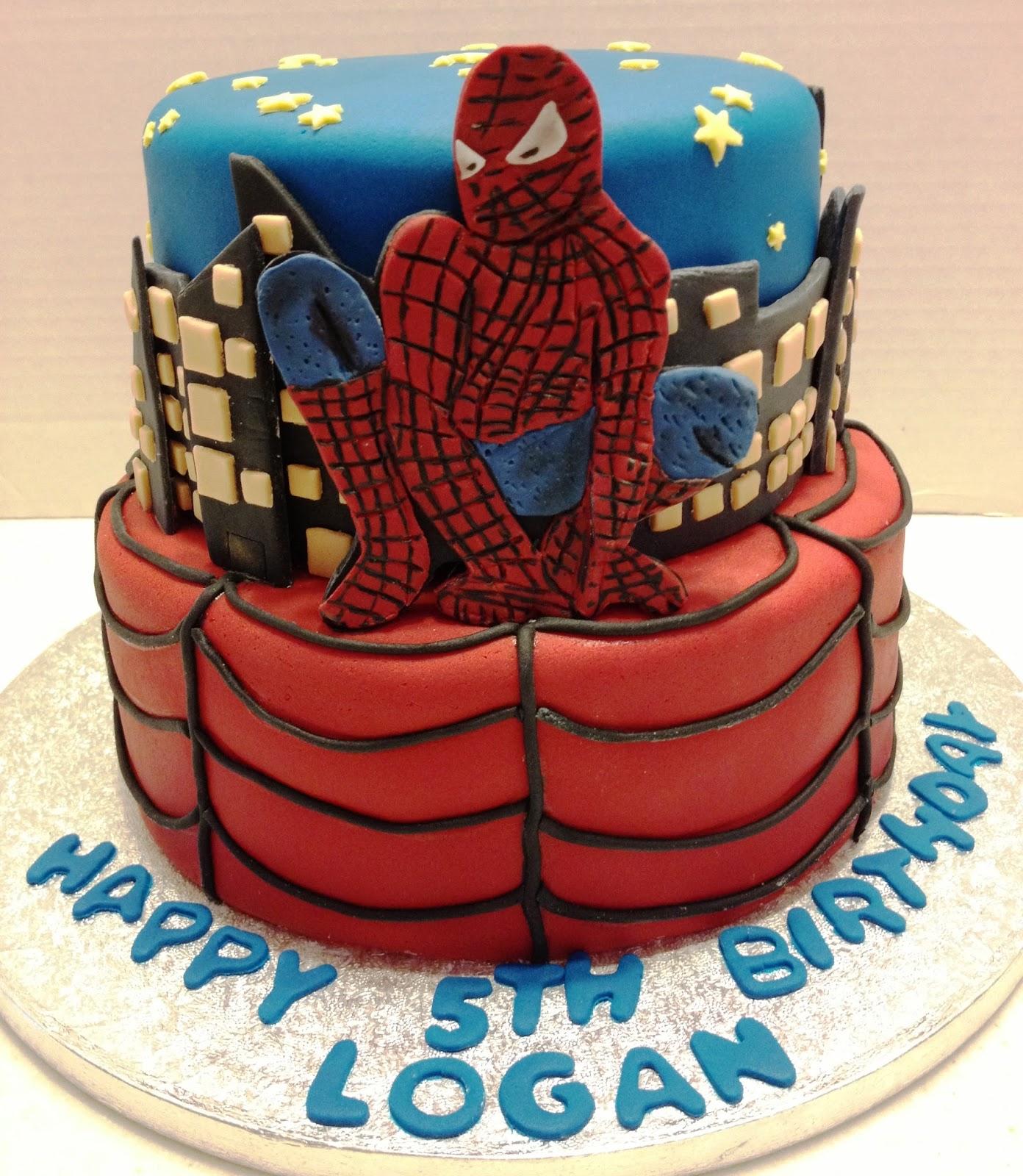 Double Spiderman Birthday Cake