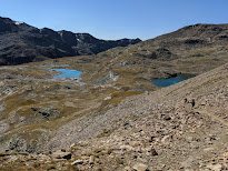 """A view of the """"i bei laghetti"""" on trail 541."""