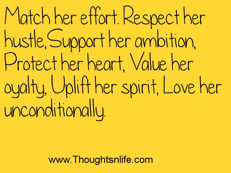 Match Her Effort. Respect Her Hustle, Support Her Ambition