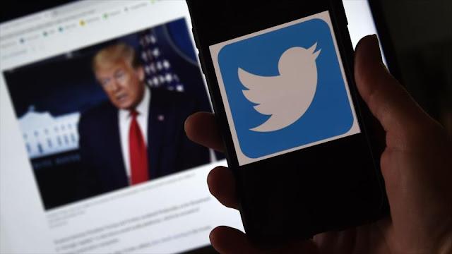 Twitter elimina una publicación de la campaña de Trump sobre Floyd