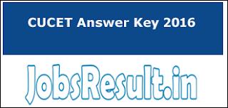 CUCET Answer Key 2016