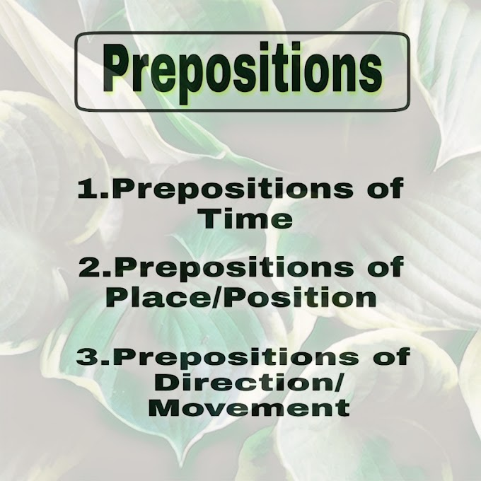 Prepositions in English Grammar