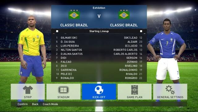 Classics Era Teams V3 1 (Classic Brazil All Stars) - PES