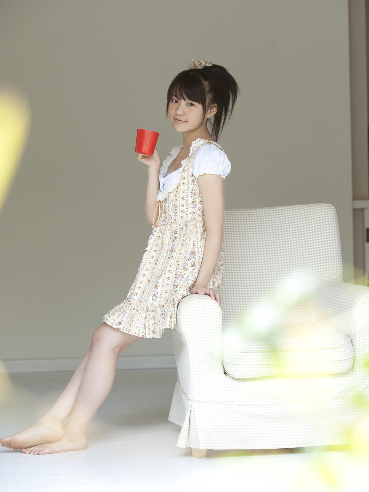 Maki Fukumi Japanese Cute Idol Sexy Robe Watering The