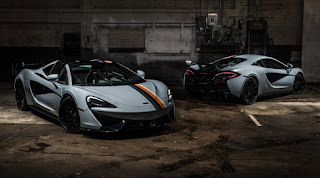 McLaren 570S Spider 'Muriwai' (2019) Front Side and 570S Coupé 'Muriwai' (2019) Rear Side