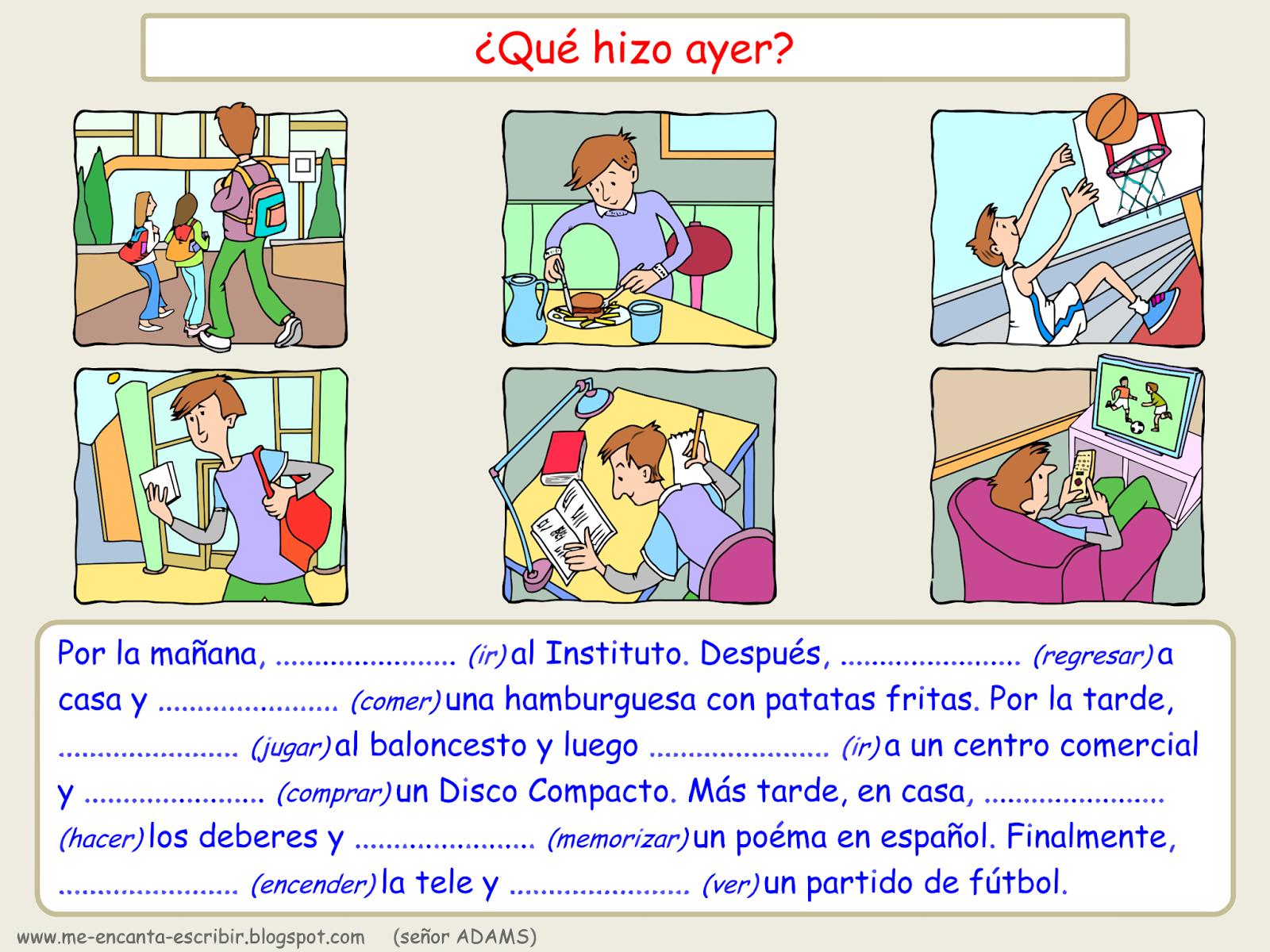 Clase De Espanol Practicar El Indefinido