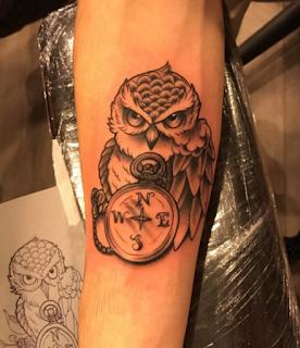 gambar tato burung hantu