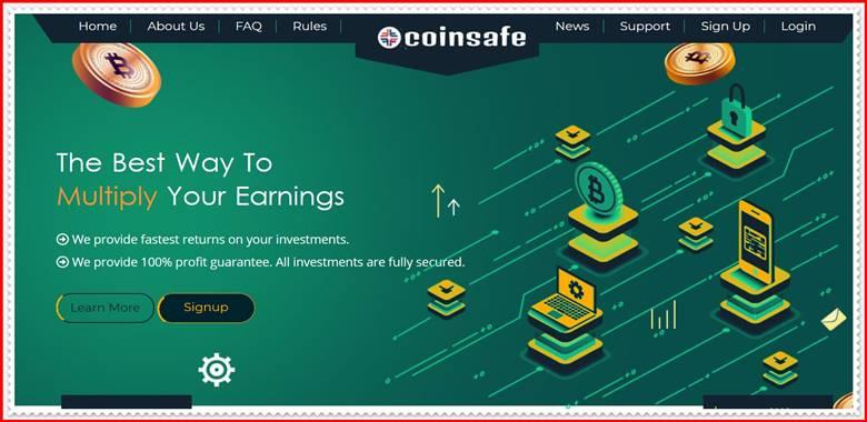 Мошеннический сайт coin-safe.net – Отзывы, развод, платит или лохотрон? Мошенники