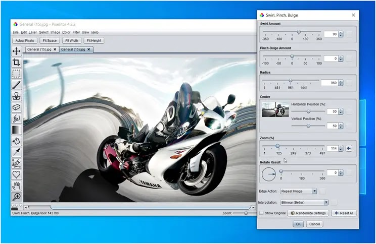 Pixelitor :  Δωρεάν λογισμικό επεξεργασίας εικόνας με πολλά εφέ και φίλτρα
