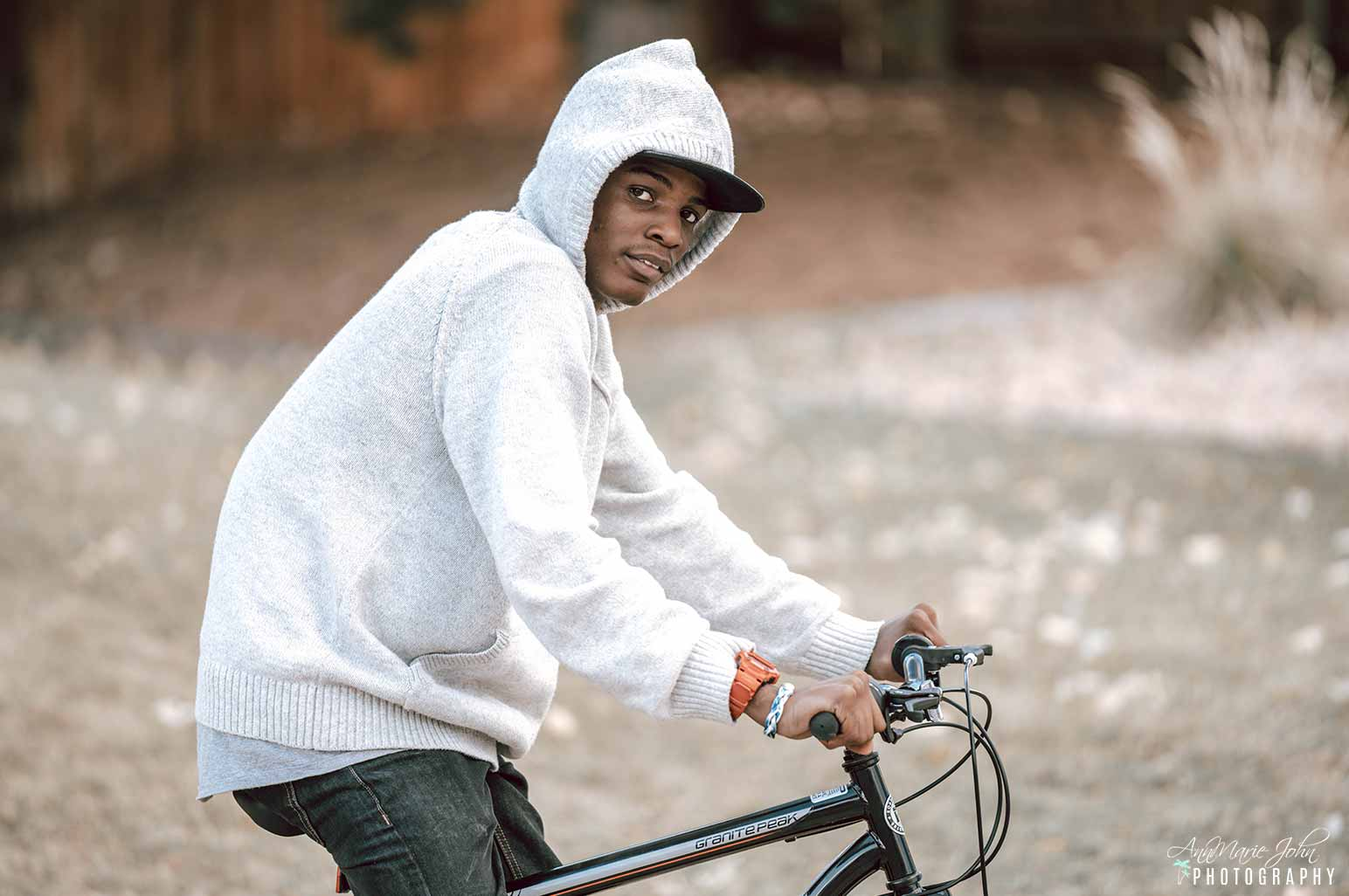 Teenager on Bike