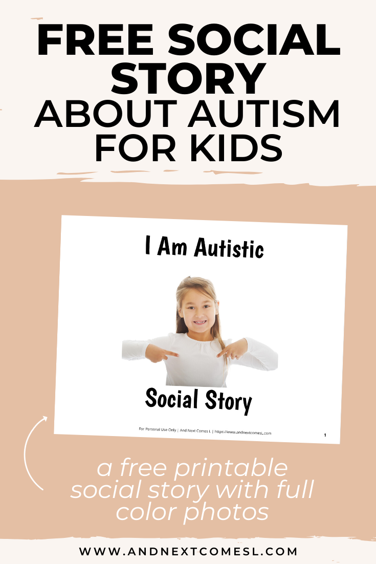 Free printable social story for autistic kids to learn about autism