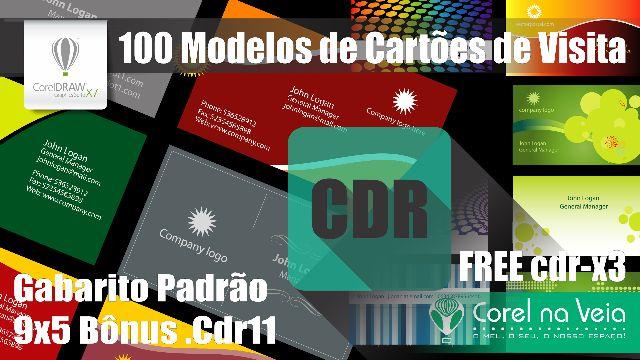 100 Modelos Vetorizados De Cartão De Visitas Pacote Free