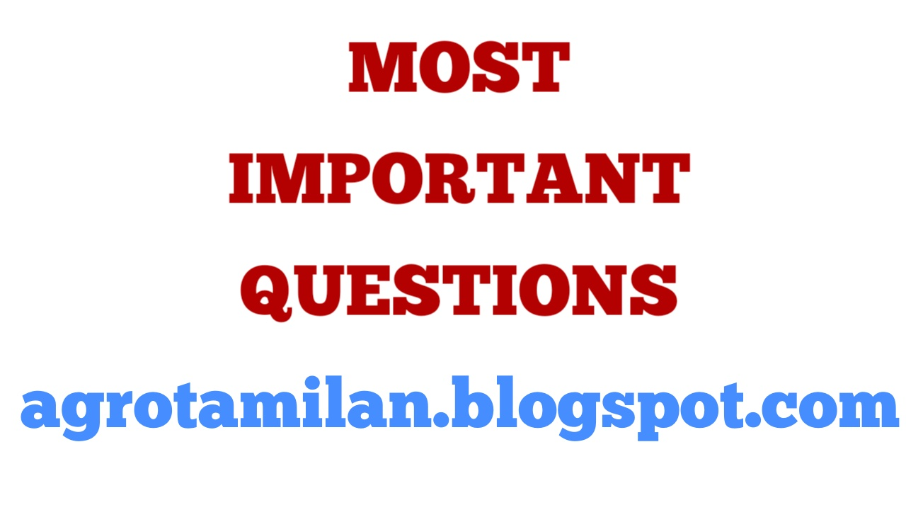 6th to 10th Tamil - Important Questions and Answers - One