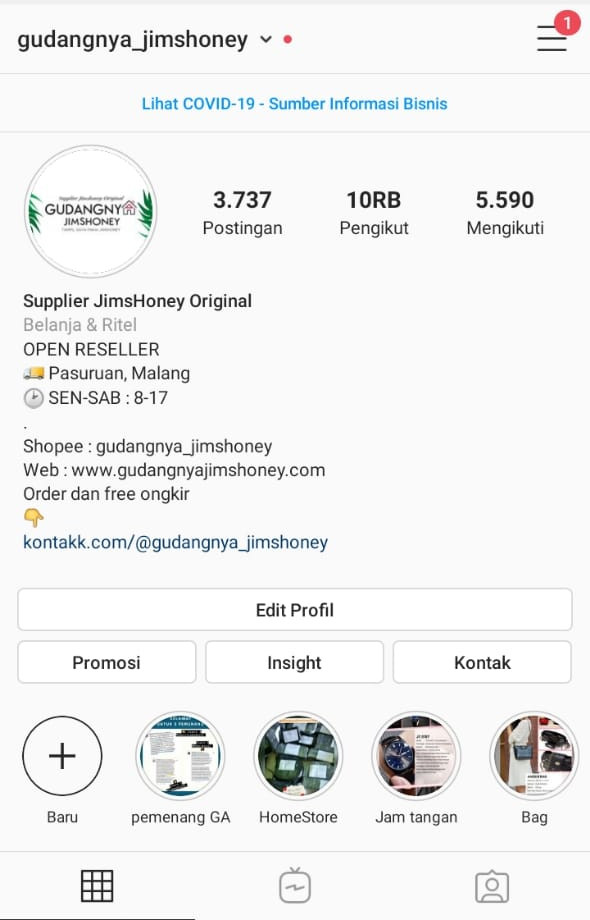 Instagram Gudangnya Jimshoney