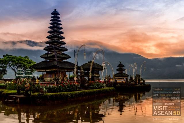 Ulun Danu Beratan Temple in Bali Indonesia