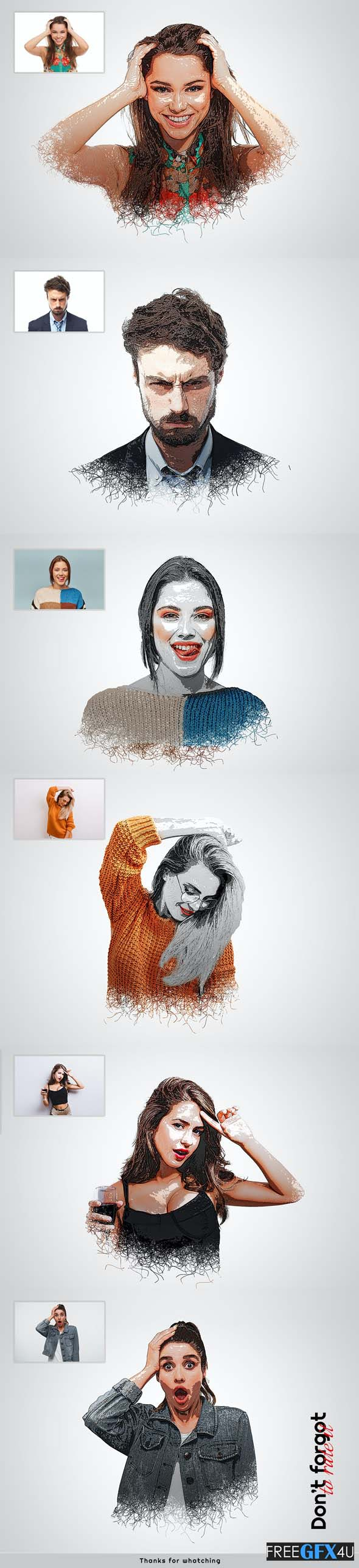 Cartoon Effects Photoshop Action
