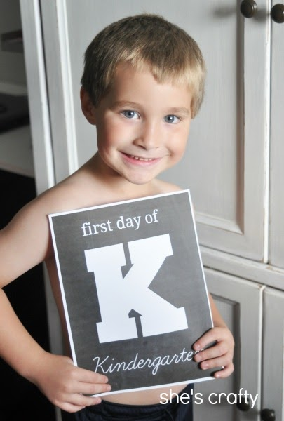 Back to School Ideas - first day of school printables