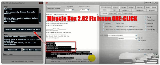 Download Miracle Box v2.82 Crack Error Fix Tool 2021  Miracle Team Sent Some Dreadful Messages Fix