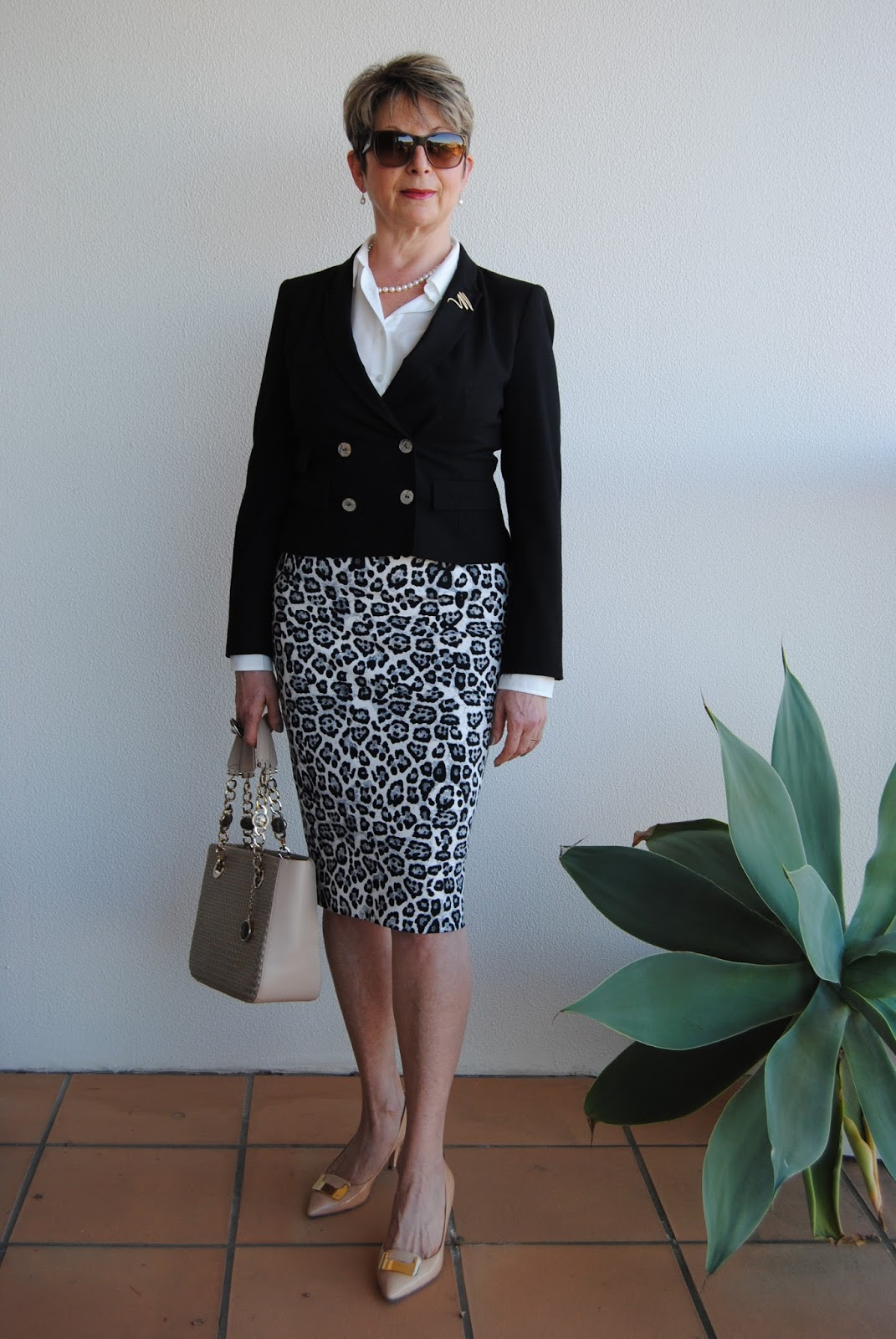 looking fabulous fifty animal print pencil skirt white