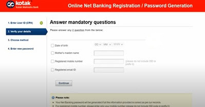 How to activate Internet Banking in Kotak Mahindra Bank?