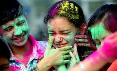 Happy Holi 2015 Cute Little Naughty Kids Pics Free Download
