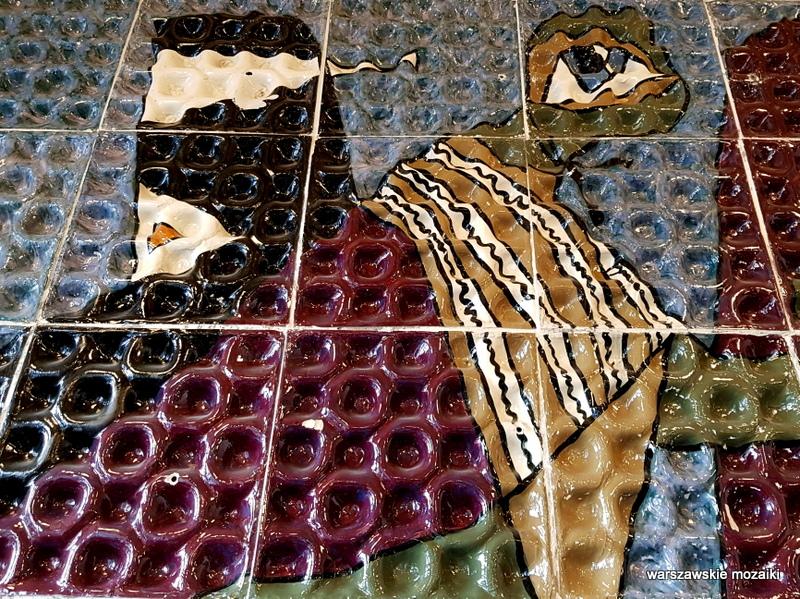 w orbicie słońca Warszawa Warsaw mozaika 1960 zachęta Helena Lech Grześkiewicz Marszałkowska 45/49 warszawskie mozaiki okładzina ceramiczna ceramika  u krawców