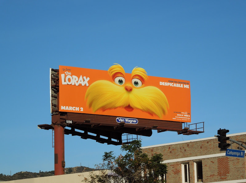 Dr Seuss' The Lorax billboard
