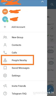 Nearby people feature kya hai? Telegram me nearby people feature kaise use kare?