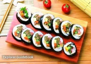 Makanan khas Korea selatan kimbap