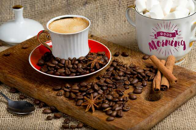 very nice good morning image withc coffee cup have a nice day
