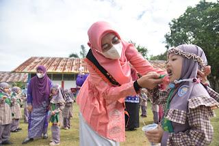 Bunda PAUD Batu Bara Sosialisasikan Cara Membersihkan Gigi Kepada Anak