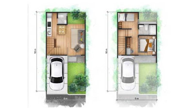 Layout Unit garden verandra cendana homes karawaci